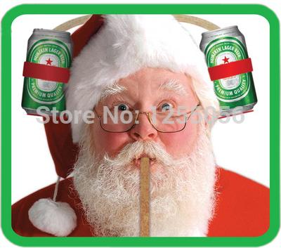 frete grátis beber capacete fofo lindo presente de natal lata de cerveja titular papai noel chapéu de beber parte presente copa do mundo(China (Mainland))