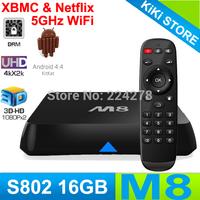 Amlogic S802 Quad Core M8 Smart TV Box,XBMC Gotham 13.0, Android 4.4 Kitkat,4K Dislay,2G&16G, Bluetooth,2.4G&5G Dual Wifi,HDMI