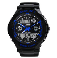 Skmei 0931 Men Sports Military Watches Hot sale Male Brand boys Fashion Casual Wristwatches Men's Digital Man Watch (blue)