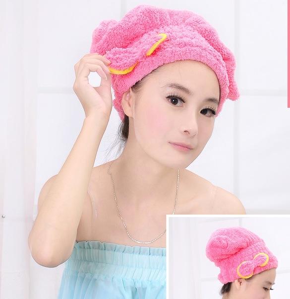 1323 коралл бархат мэджик сухой волос кепка шапочка для душа супер-впитывающее микрофибра полотенце сухой волосы большая