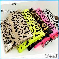 2014 Fashion Famous Designers Brand Hollow out Mini PU Leather Handbag/Message Bags Handbag Women Shoulder Fashion Bag