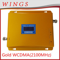 2014 New Model Gold WCDMA 70dBi 2100MHz Dual Band Mobile Signal Repeater/Booster/Amplifier
