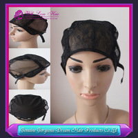 Free Shipping Black Small/Medium/Large JewishWig Caps For Making Wigs 5pcs Per LotGlueless Wig Caps Adjustable Strap On the Back