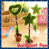 [FORREST SHOP] Office 0.5MM Blue Novelty Green Grass Ballpoint Pen / Kawaii School Stationery Cute Pens For Kids Gift YP-UP888