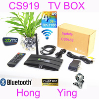 Update CS918S  Android 4.2.2 TV BOX 2.0MP Camera Microphone RK3188 Quad Core 2G/8G XBMC Bluetooth HDMI Media Player BOX TV CS919