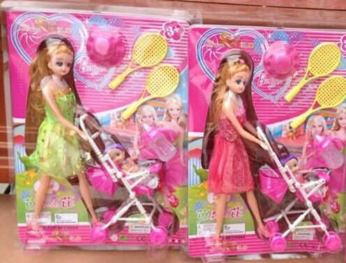 2014kids dolls pram suit toys Girls love doll toy set games manufacturer wholesale(China (Mainland))
