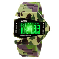 Freeshipping New Arrival Skmei 0817B Unisex Sports Digital Backlight LED Wrist Watch w Rubber Band & Alarm & Calendar watch