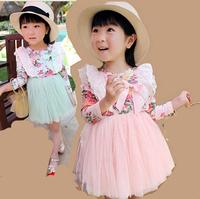 Summer  girls princess dress Paragraphs spring girl princess cake veil girls dress