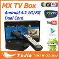 10pcs Original 4 2 2 Dual Core Android TV Box XBMC Midnight MX 1G RAM 8G