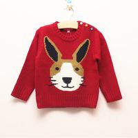 2014 spring models children sweater cartoon rabbits kids girls sweaters c0012