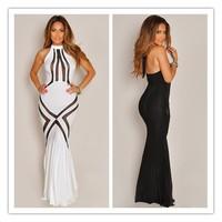 2014 New Women Summer Dress Mesh Pattern Hourglass Long Maxi Dress Party Evening Dress Clubwear Drop Shipping Fast Delivery