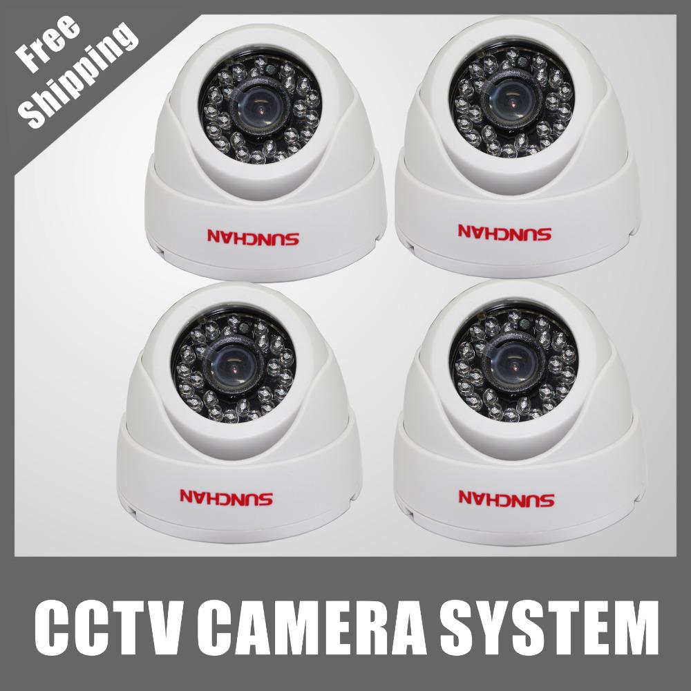"SUNCHAN 1/4"" Color CMOS 480TVL Day/Night Indoor CCTV Camera Home Security Camera(China (Mainland))"