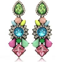 Newest European and USA Fashion Big Drops Pendant Earring High Quality Rhinestone Resin Earrings Women Free Shipping ER158
