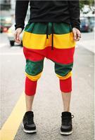 Fashion Casual Colorful Stripes Patchwork Haren Pants Full Length for Women Jazz Hip-Hop Sport pants
