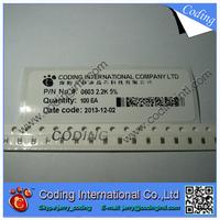5000PCS /LOT Chip Resistor 0603 200R 200 OHM 1% (10R~1M OHM) 1/10W  SMD Resistors