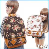 New 2014 Casual Vintage Print Women Canvas Mochilas Children Backpacks School Student Bagpack Women Travel Bags Laptop packs
