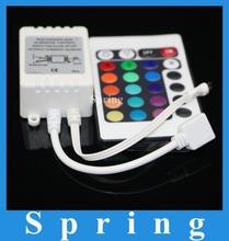 envío gratis 24 teclas dc12v mando a distancia ir para smd3528 smd5050 rgb led franja mini controlador(China (Mainland))