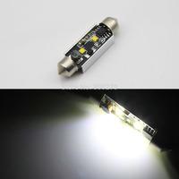 2pcs/Pair 41 42mm CREE 2 Led SMD 6V White Interior Trunk License Glove Box LIGHT LED BULB 239 C5W 12V 24V