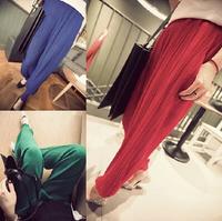 2014 summer new Korean Women casual loose pants white chiffon harem pants women's trousers female free shipping