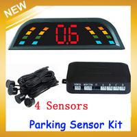 2014 Hot Sale Parking Assist Car Led Parking Sensor Kit 4 Sensors Multi-color Reverse System Radar Detector with Digital Display