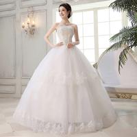 Summer wedding dress  2014 new Korean version of sweet and princess lace wedding dress Tube Top Bandage paragraph