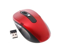 2pcs/lot Portable Optical Wireless Mouse USB Receiver RF 2.4G For Desktop & Laptop PC Computer Peripherals Accessories Red Black