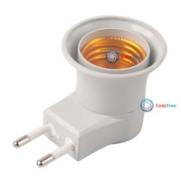 cointree E27 LED Light Male socket to EU Type Plug Adapter Converter W  ON OFF Button wholesale