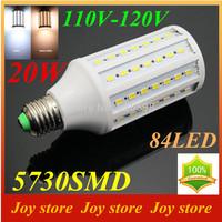 20W,5730 SMD,LED Lamps Bulb,E27 B22 E14,110V,120V,Cold White/Warm white,84 LED,Corn Light Bulb,Ultra bright spot lights
