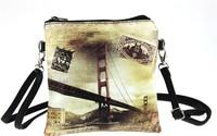 Free shipping Square Prints Messenger Shoulder HandBag Cross body Purse bag 16*16cm