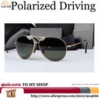 Strengthen Anti-glare Night Vision Impact resistant Glasses 2015,UV400 Driving Car at Sunglasses Men Polarized Aviator