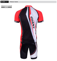 Free shipping outdoor sport cycling clothing Short Sleeve bicycle Cycling bike wear Jersey shirt SHORTS suits set