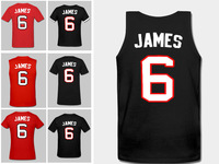 Fast Free Shipping Wholesales Price Lebron James jersey  #6 Basketball Jersey, New Cotton Men Clothes All Style