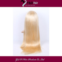 5A #613 Bleach Blonde 14-30 Inches Full Lace Wig 100% Handmade Real man Hair Brazilian Virgin Straight Full Head Customized