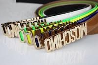 Free Shipping Fashion Unisex Colorful Bright pu Leather Buckle Belt