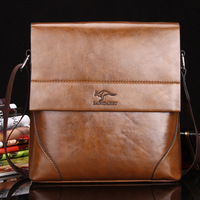 New Arrived kangaroo leather men's messenger bag restore ancient briefcase cross body bag business shoulder bag Free Shipping
