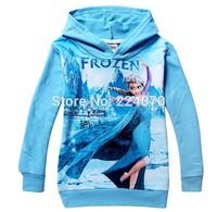 Frozen coat Frozen Princess children kids girl coat Hooded Anna Elsa sweater wear spring autumn girl coat clothing free shipping