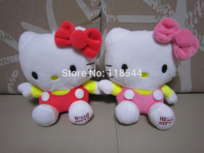 20cm colorful hello kitty toys plush hello kitty plush soft toys stuffed hello kitty wholesale free shipping(China (Mainland))