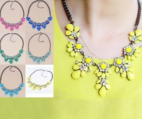 SALE 2014 New Pop 11 Colors Good Quality Fashion Western Statement Elegant Rinestones Choker Necklace jewelry