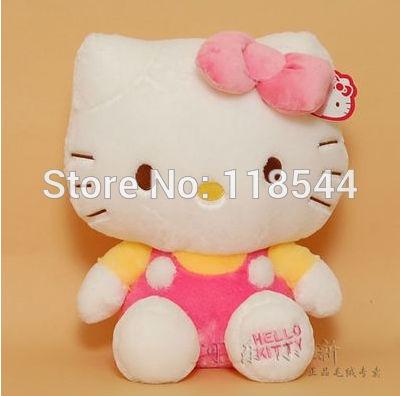 20cm pink hello kitty toys plush hello kitty plush soft toys stuffed hello kitty kids toy baby toy one piece free shipping(China (Mainland))