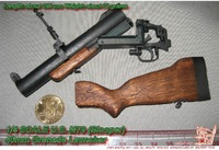 1/4 Battered cia-issued M79 grenade launcher model, can match EB terminator Arnold