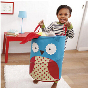 Lovely cartoon style folding bucket for toy, Large storage bucket for baby Accessories,kids storage boxes&Bin,free shipping(China (Mainland))