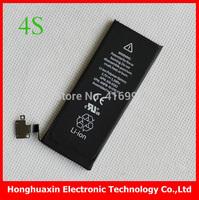 original power battery 100% new cell phone Li ion Battery 3.7V Li-polymer for iphone 4s Battery cell with 1430mAh free shipping