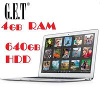 Cheap New arrival 14 inch notebook computer Ultrabook laptop PC Intel Atom N2600/N2807  dual core 4G DDR3 640G HDD Webcam