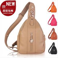 New  bolsas 2014 women's handbag chest pack women's personalized fashion large chest pack faux leather chest pack shoulder bag