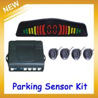 PZ304 LED Digital Car Parking Sensor Backup Reverse Radar Alert System with 4 Sensors Multi-colors,FreeShipping
