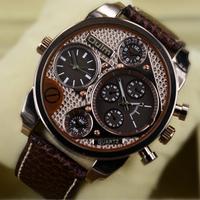 Fashion Vogue Casual Relogio Gold Sports Mens Military Army Dress Gift Quartz Wrist Watches 2014 New Brand Relojes BROWN / Black
