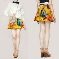 Women Summer Fashion Slim Hip Mini Skirts Floral Print Vintage Stretch Design Short Style 100% Cotton OL Zipper Skirt lyq89