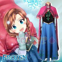 Frozen Anna  Dress adult cosplay costume