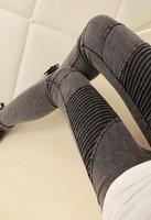 New 2014 Jeggings for Women Acid Wash Skinny Jeans Ankle Length Jeggins Denim Leggings Blue / Grey Jeggings Three Sizes
