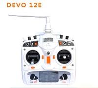2014 Original Walkera DEVO 12CH 12E Transmitter 2.4Ghz Radio System RX1202 Receiver for Drone QR X350 Pro X800 FPV Free girl toy